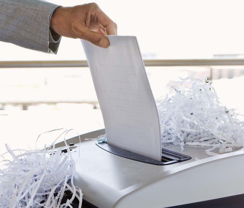 акт уничтожения документов